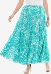 In a green floral, this print skirt will help you keep your cool. JessicaLondon.com.