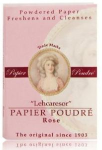 Papier Poudre is the time tested classic, in Rose. Also comes in Rachel and White.