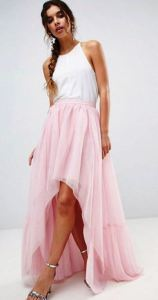 Summer wedding-guest solution. Or wear it to the twilight Mozart festival in the park. High Low Hem Tulle Maxi Skirt from USAsos.com.