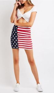 For only $5 on sale, you'll be set for patriotic holidays forever. Comfortable, stretchy cotton fabric mini from charlotterusse.com.