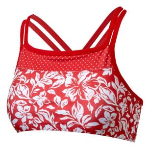Coordinating Criss-Cross Swim Bra offers the benefits of a bikini top and a sports bra for support and practicality. Wear alone or under a shirt. UPF 50+ and colors like the others, at uvskinz.com.