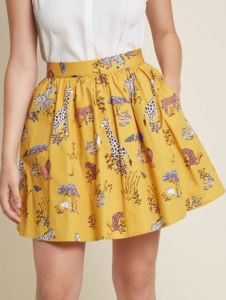 Going to the zoo, wildlife rescue center, or just love God's creatures? Dress for the (likely hot and humid) scene in an airy skirt. Share Your Flair Skater Skirt is available at modcloth.com.