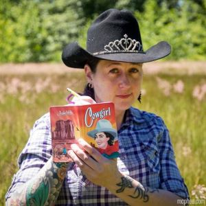 Archie McPhee carries a great collection of handy notebook sets in sundry themes. This set of three Cowgirl Notebooks hearkens back to classic mid-20th Century cowgirl culture graphic design, with all of the awesome iconic mesa scenery and sunset colors you long for in your grey, neon-lit classroom. Put a tiara on your cowboy hat like this slick cowgirl, open your notebook, and prepare to prove to your American Literature professor why Zane Grey's heroines put every Disney Princess to shame. Mcphee.com.