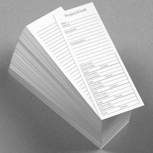 Another handy bookmark notecard option from Levenger, these Special Request Project Planner Bookmark Cards, set of 100, have sections which can be used for tracking things like specific homework assignments, class projects, and all of the many educational tasks and events in a student's life. Parents, note that study tools such as these can help to teach children how to plan, design, coordinate, and complete projects, an important life-long skill. Maybe you'll want to borrow a few of them....