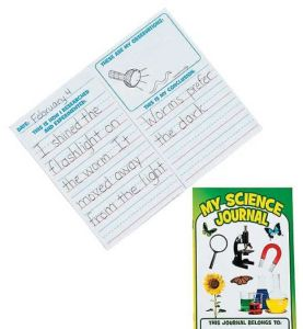 My Science Journal is a great tool for younger kids to learn the scientific method. Students at this age are curious and exploratory, taking naturally to the sciences. These journals will help them to define their experiments and the results they observe. The journals come in a set of 12, providing lots of opportunities for discovery!