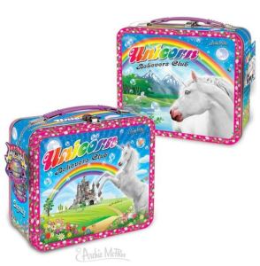 You or your young ShoppingGirl might need a new lunchbox for school. You can match your Unicorn notebooks with the Unicorn Believers Club lunchbox that features different graphics on each side. Not just for lunch. Carry some spare white chocolate-dipped carrots, just in case.