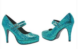 Disney branded Blue Glitter Alice Shoes feature an awesome color that coordinates with lots of costumes and is otherwise difficult to find in footwear. 4
