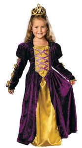 The Girl's Regal Queen Costume is yet another versatile choice with a lot of impact. After Halloween, it becomes dress-up garb for play, and plays, as in Junior Theatre. orientaltrading.com.