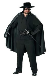 Plus size men are not forgotten. Men's Bandido Costume includes the saber. Romantic serenades will require the addition of a mariachi band. orientaltrading.com. Note that plus-sized costumes are also available in regular Adult sizes.