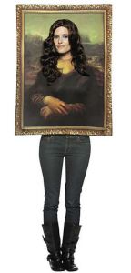Dress to blend into the background. Stand in the right place. After the crowd has downed a few drinks, you can really mess with people. Mona Lisa Costume. orientaltrading.com.