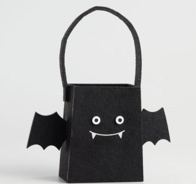 Speaking of Treat Bags, here's a Halloween Bat Treat Bag which may inspire, or you can buy from worldmarket.com.