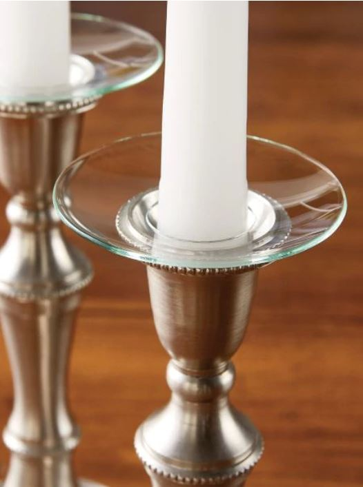 Classic straight rim bobeches do a valuable job for candle lovers. Sold in sets of two; get enough plus a few spares for all of your candle needs during the festive season, and stop that nagging worry about wax dripping onto your fav tablecloth. vermontcountrystore.com
