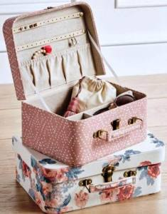Northfield Jewelry Suitcases, in two charming pattern options. pbteen.com.