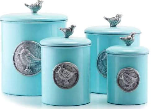 Old Dutch Lauren Bluebird 4 Piece Canister Set at Overstock.com