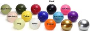 A deal. Choose your color, and get a case of six, 3-inch Ball Candles for around $20! You can use them to decorate, or hand them out to co-workers, neighbors, or who you will, as charming little Christmas gifts. Overstock.com