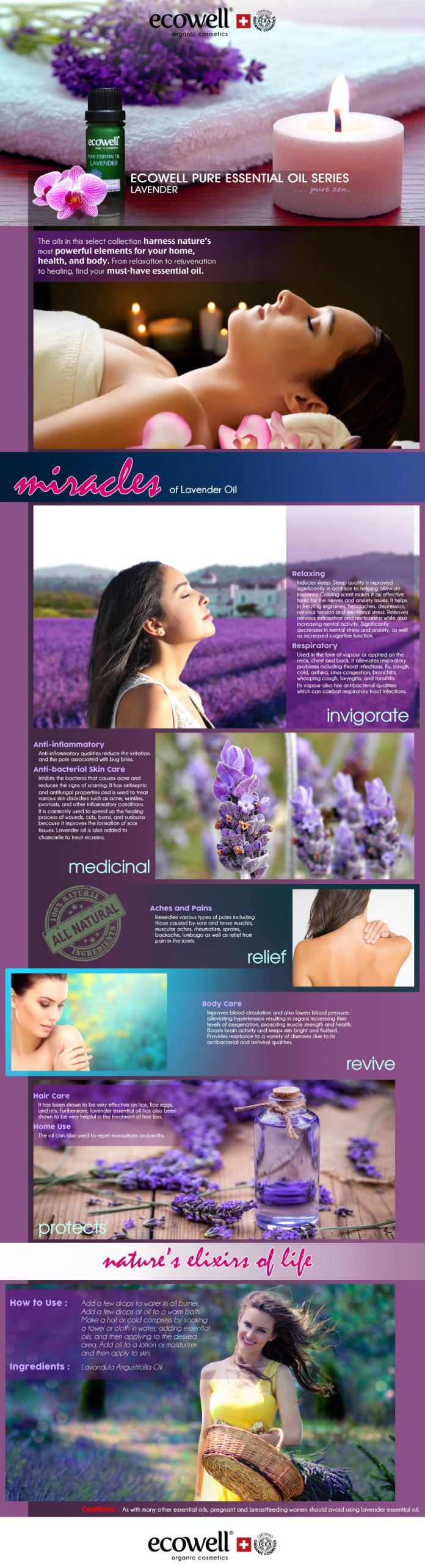 Ecowell Lavender Pure Essential Oil