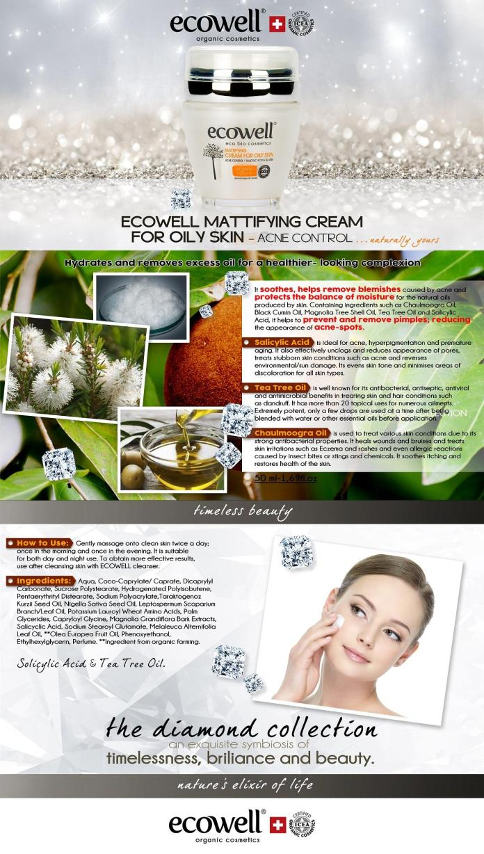 Ecowell Mattifying Cream For Oily Skin