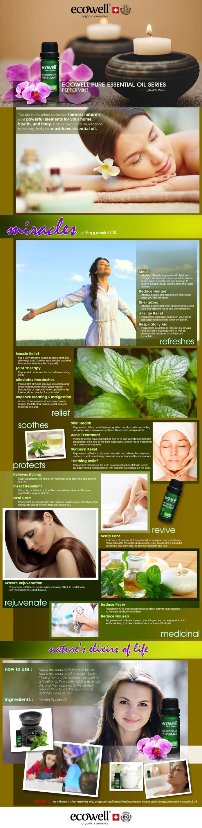 Ecowell Peppermint Pure Essential Oil