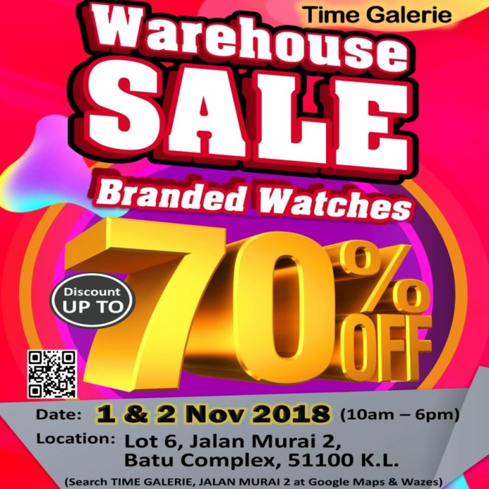 Time Galerie Warehouse Sale