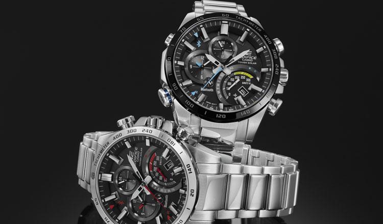 60b25180485bd Relógio EDIFICE da Casio liga-se a smarthpone para garantir hora certa em  qualquer lugar