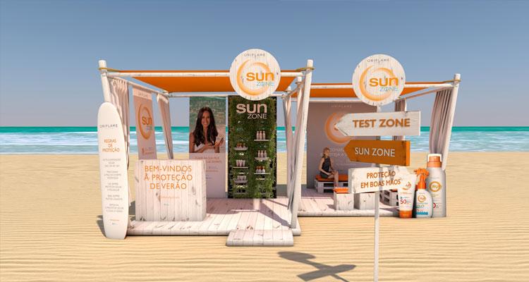 """Oriflame Sun Zone"" nas praias de Almada"