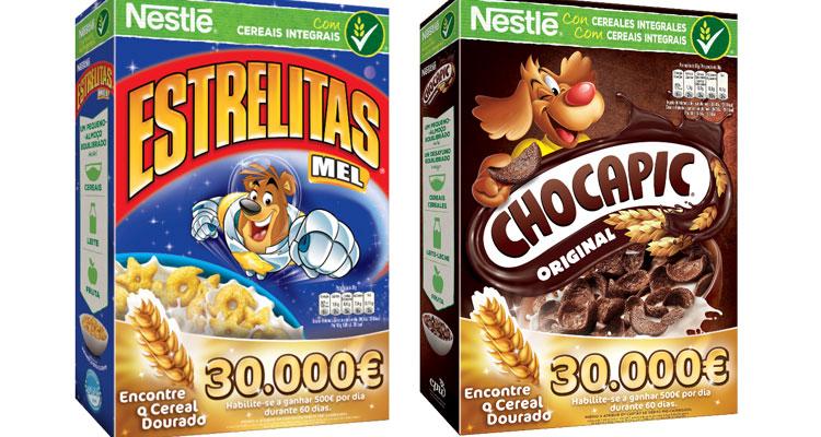 """CHOCAPIC e ESTRELITAS oferecem """"cereais dourados"""""""