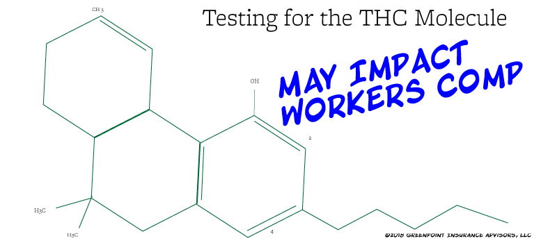 THC cannabis molecule and impact on workers compensation insurance.