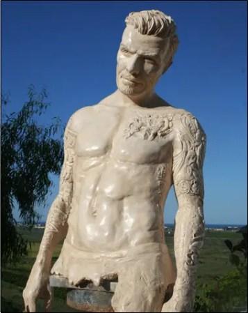 David Beckham Sculpture