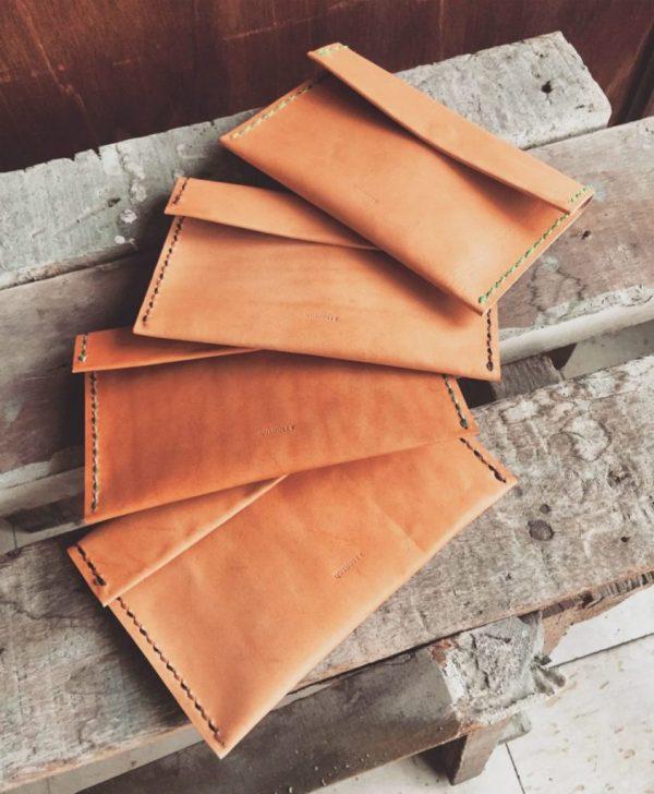 modern minimalist leather wallet