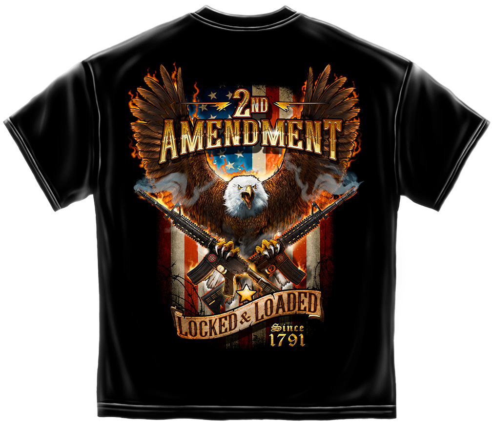 2nd Amendment Attack Eagle with Crossed AR-15 Rifles T-shirt