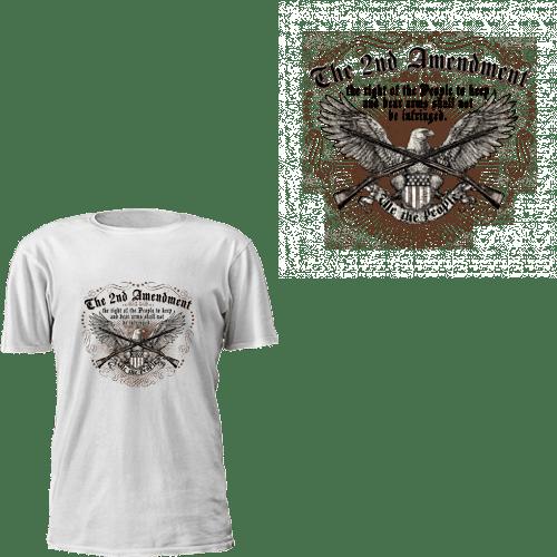 The 2nd Amendment - Crossed Rifles T-Shirt