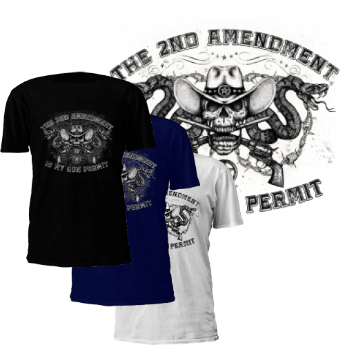 "The 2nd Amendment is My Gun Permit"" T-Shirt"