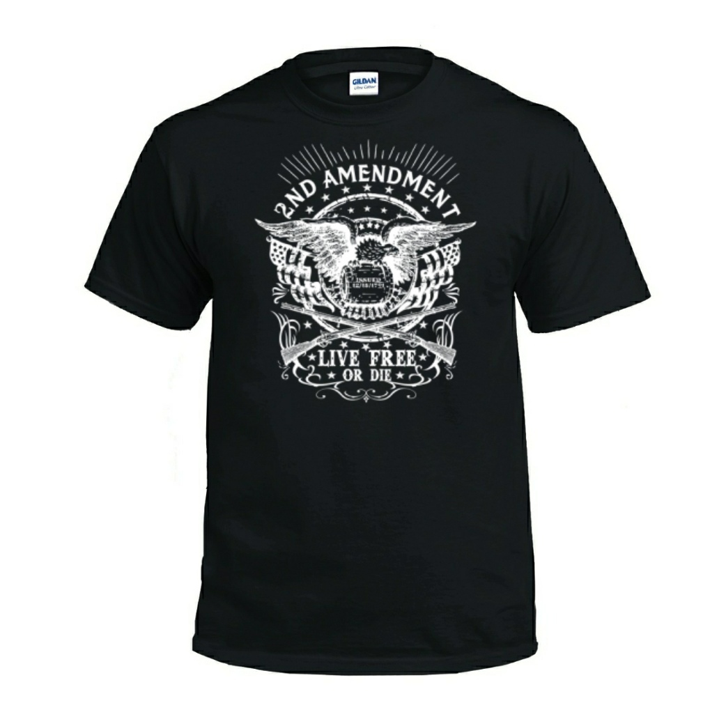 Live Free Or Die 2nd Amendment T-Shirt black