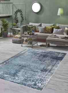 Mod Arte Mirage Collection Area Rug Modern Contemporary Style Abstract Soft Plush Navy Blue Gray 5 2 X 7 2 Shoprhc