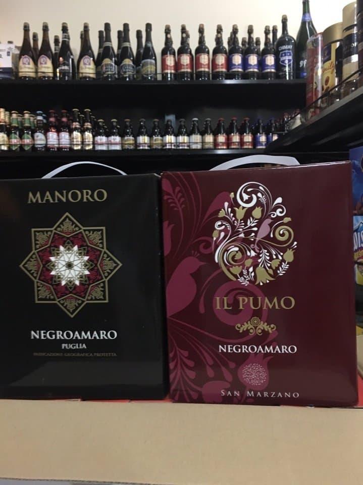 Rượu Vang bịch Ý IL Pumo BIB 3000ml