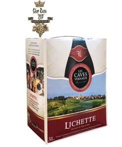 Vang Bịch Lichette VCE Rouge 3L là sản phẩm cao cấp nhập khẩu trực tiếp từ Pháp. Không chỉ những phụ nữ sành Vang ưa chuộng