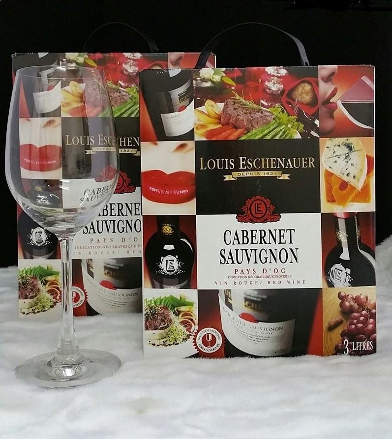 Rượu Vang Bịch Louis Eschenauer Cabernet Sau 5L