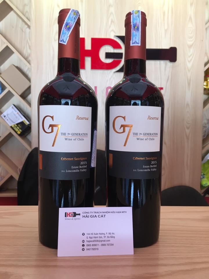 Bán rượu vang g7 cabernet sauvignon tại Quảng Nam giá tốt nhất