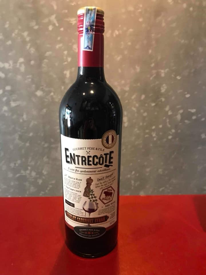 Bán rượu Vang Pháp Entrecote Melot Cabernet Syrah tại Bình Thuận ưu đãi nhất