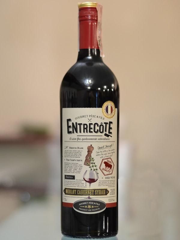 Bán rượu Vang Pháp Entrecote Melot Cabernet Syrah tại Điện Biên ưu đãi nhất