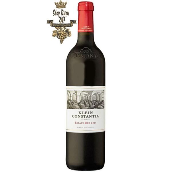 Rượu Vang Nam Phi Klein Constantia Estate Red WO có mầu đỏ ruby xuất hiện. Ý định của chúng tôi cho sản phẩm này là sản xuất một loại rượu đại diện cho vị trí độc đáo của chúng tôi.