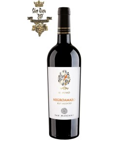 Rượu Vang Ý IL Pumo Negroamaro là chai rượu vang đến từ nước Ý xinh đẹp, được sản xuất từ nhà rượu San Marzano, chai rượu được sản xuất từ giống nho Negroamano.