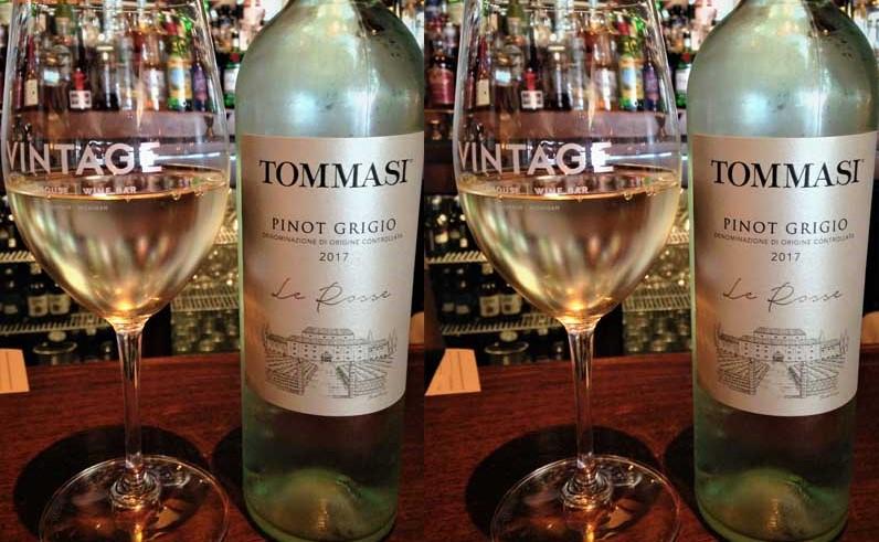 Rượu là sản phẩm rượu vang trắng Ý của nhà rượu Tommasi nổi tiếng, chúng được trưởng thành từ 100% giống nho Pinot Grigio