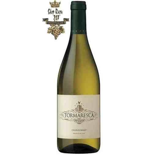 Rượu vang Ý Tormaresca Chardonnay Puglia IGT định vị sản xuất vang cao cấp của vùng, vì vậy nho được chọn
