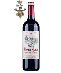 Rượu Vang Château Rocher Calon Montagne Saint Emilion có mầu đỏ đẹp mắt. Loại rượu này đã giành được huy chương vàng