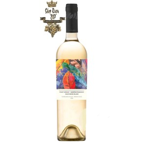 Vang Chile 7Colores Pinot Grigio - Gewürztraminer Sauvignon Blanc Gran Reserva có màu vàng chanh ấn tượng. Hương thơm của chanh