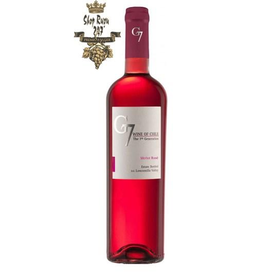 Chân dung chai Rượu Vang Chile Hồng G7 Merlot Rose