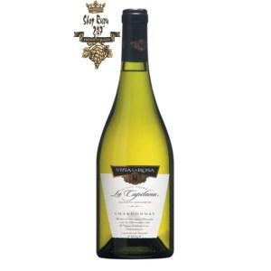 Vang Chile Trắng La Capitana Chardonnay có mầu vàng nhạt với các sắc thái xanh. Hương thơm của các loại trái cây chín như đu đủ, đào