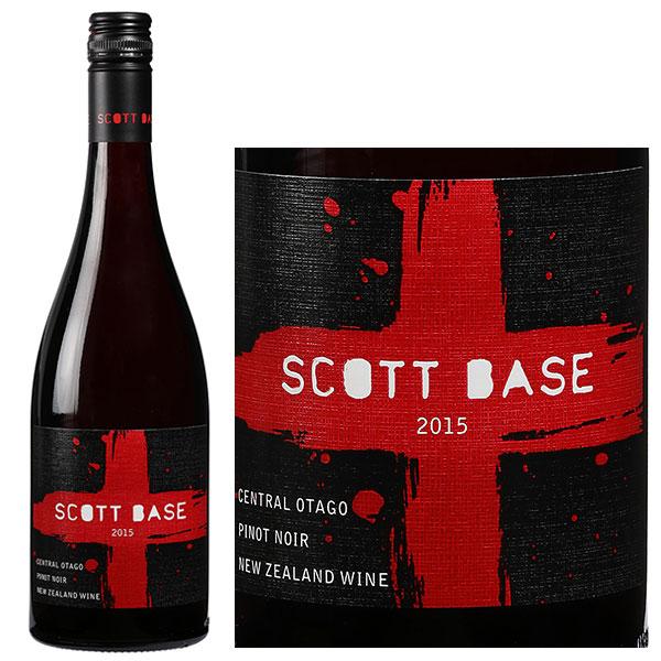 Vang Đỏ New Zealand Scott Base Pinot Noir có màu đỏ đậm đẹp mắt. Hương thơm của cam quýt, đào trắng