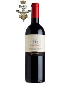 Rượu Vang Đỏ 1865 Cabernet Sauvignon có mầu đỏ hồng ngọc đậm đặc. Hương thơm thanh lịch và mãnh liệt của quả chín đỏ như quả mọng